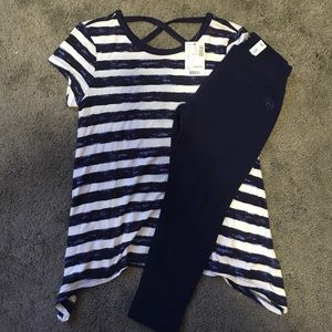 Justice Sz 5 Navy leggings with top new with tags